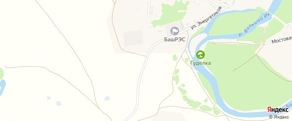 Улица Энергетиков на карте села Исянгулово с номерами домов