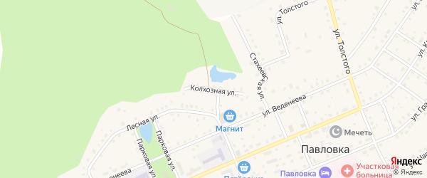 Колхозная улица на карте села Павловки с номерами домов