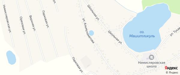 Улица Альмухаметова на карте села Нимислярово с номерами домов