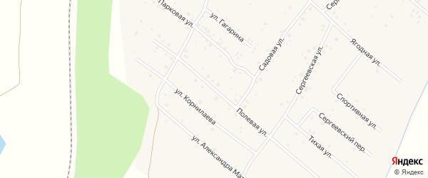 Полевая улица на карте села Чуваш-Кубово с номерами домов