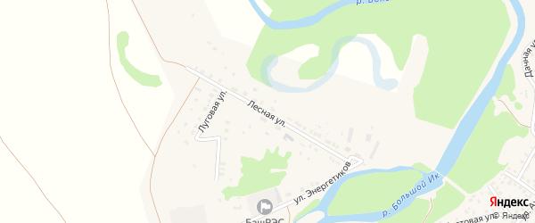 Лесная улица на карте села Исянгулово с номерами домов
