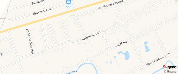 Школьная улица на карте села Аскино с номерами домов