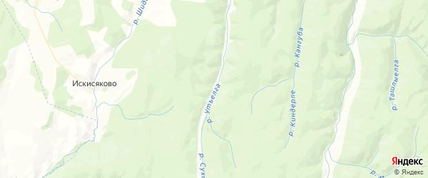 Карта Арметовского сельсовета республики Башкортостан с районами, улицами и номерами домов