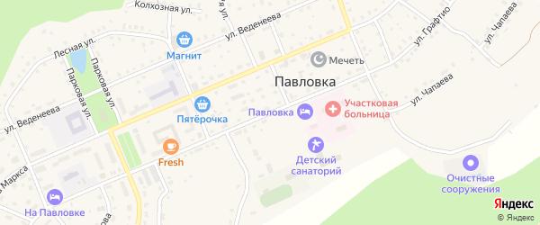 Улица Графтио на карте села Павловки с номерами домов