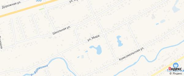 Улица Мира на карте села Аскино с номерами домов