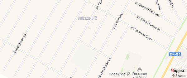 Улица Е.Фионова на карте села Аскино с номерами домов