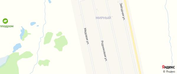 Медовая улица на карте села Аскино с номерами домов