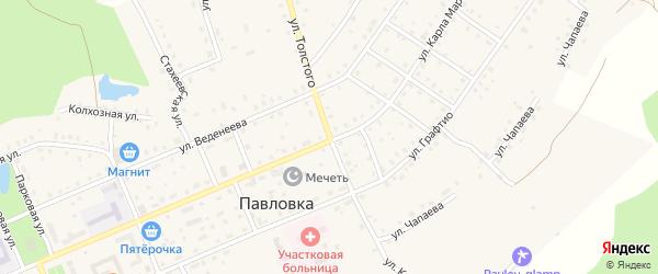 Улица Толстого на карте села Павловки с номерами домов