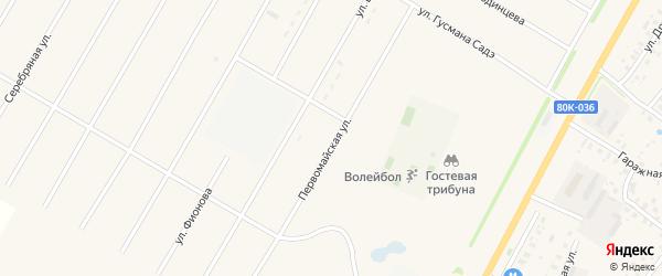 Первомайская улица на карте села Аскино с номерами домов