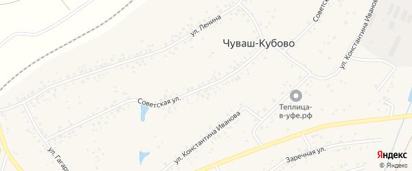 Советская улица на карте села Чуваш-Кубово с номерами домов
