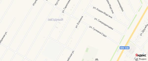 Улица Есенина на карте села Аскино с номерами домов