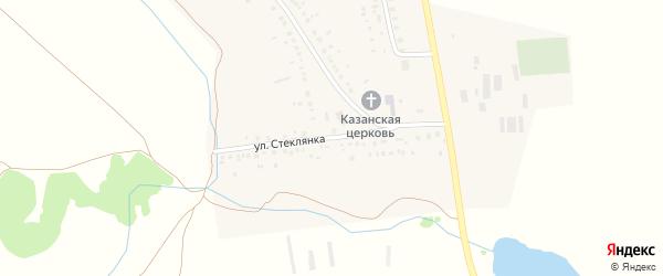Улица Стеклянка на карте деревни Новопетровского с номерами домов