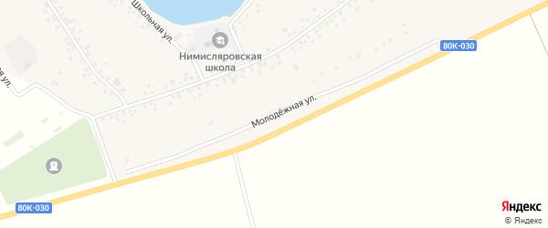 Молодежная улица на карте села Нимислярово с номерами домов