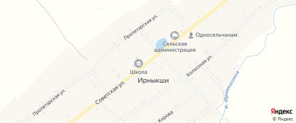 Советская улица на карте села Ирныкши с номерами домов
