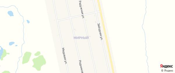 Радужная улица на карте села Аскино с номерами домов