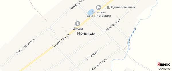 Пролетарская улица на карте села Ирныкши с номерами домов