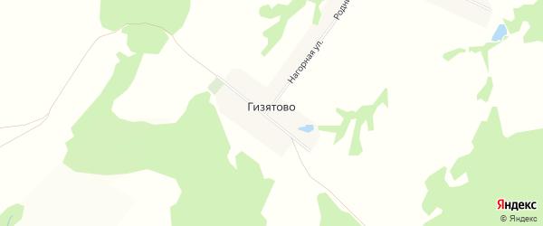 Карта деревни Гизятово в Башкортостане с улицами и номерами домов