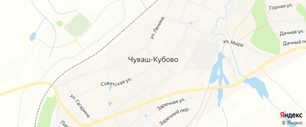Карта села Чуваш-Кубово в Башкортостане с улицами и номерами домов