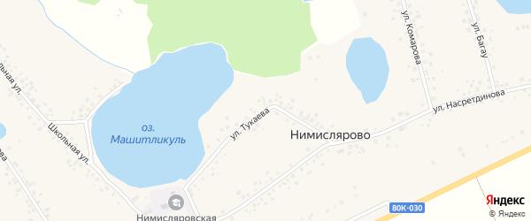 Улица Тукаева на карте села Нимислярово с номерами домов