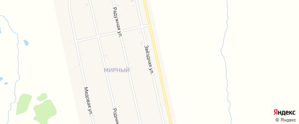 Звездная улица на карте села Аскино с номерами домов
