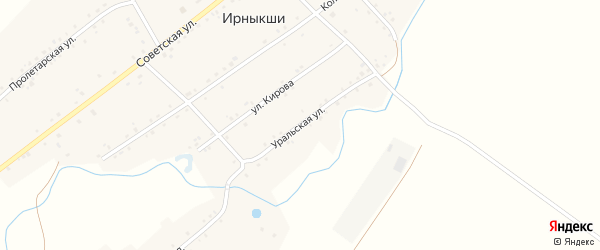 Уральская улица на карте села Ирныкши с номерами домов