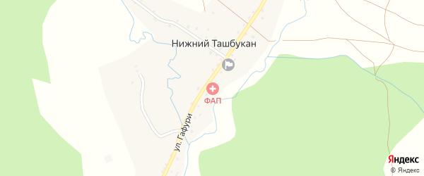 Улица Юлаева на карте села Нижнего Ташбукана с номерами домов