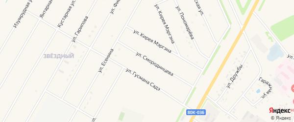 Улица Смородинцева на карте села Аскино с номерами домов