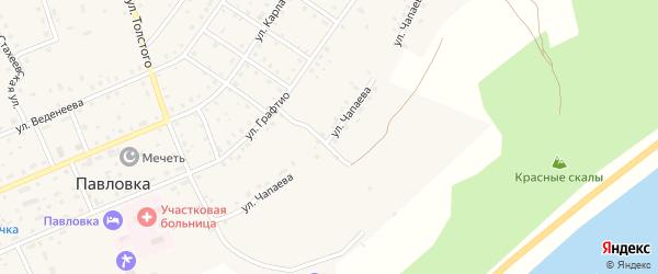 Улица Чапаева на карте села Павловки с номерами домов