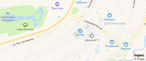 Первая Школьная улица на карте села Аскино с номерами домов