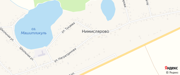 Улица Насретдинова на карте села Нимислярово с номерами домов