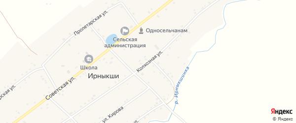Колхозная улица на карте села Ирныкши с номерами домов