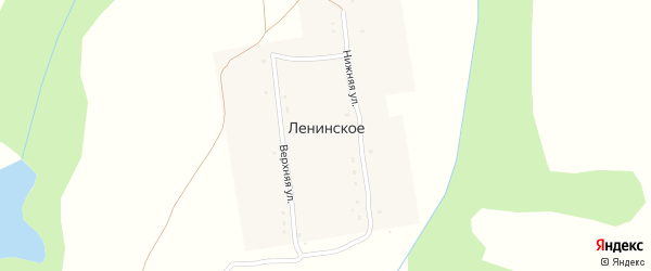 Центральная улица на карте деревни Чкаловского с номерами домов