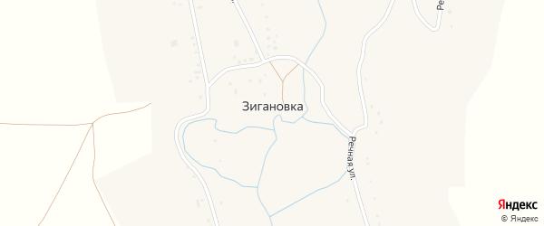 Речная улица на карте села Зигановки с номерами домов
