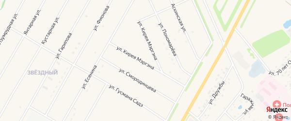 Улица Кирея Мергена на карте села Аскино с номерами домов