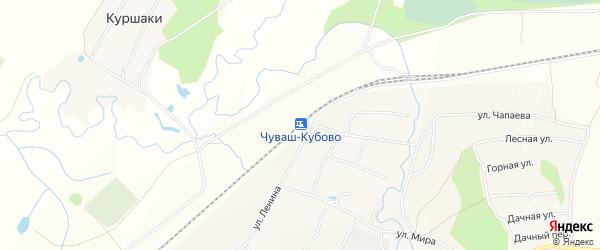 Карта разъезда Чуваши в Башкортостане с улицами и номерами домов