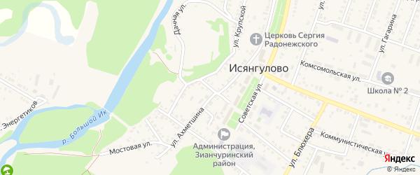 Почтовый переулок на карте села Исянгулово с номерами домов