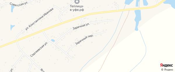 Заречный переулок на карте села Чуваш-Кубово с номерами домов