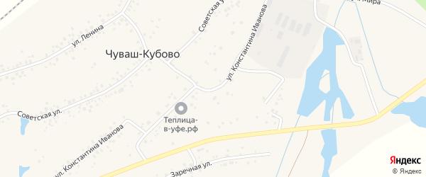 Улица К.Иванова на карте села Чуваш-Кубово с номерами домов