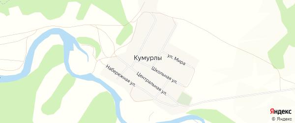 Карта села Кумурлы в Башкортостане с улицами и номерами домов