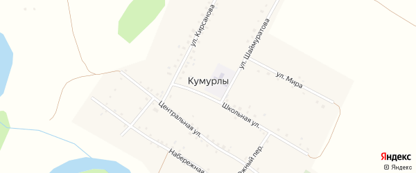 Улица Шаймуратова на карте села Кумурлы с номерами домов
