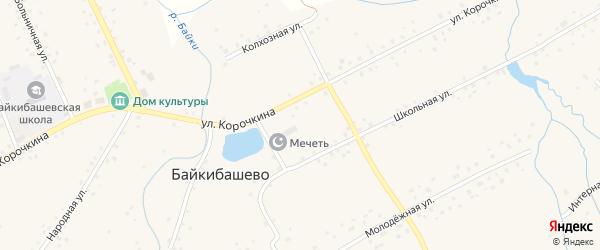 Береговая улица на карте села Байкибашево с номерами домов