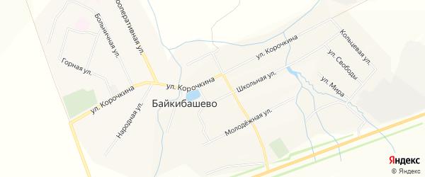 Карта села Байкибашево в Башкортостане с улицами и номерами домов