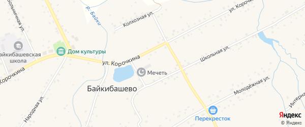 Улица Агрохимиков на карте села Байкибашево с номерами домов