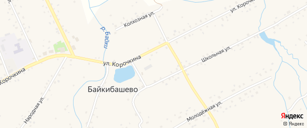Кооперативная улица на карте села Байкибашево с номерами домов