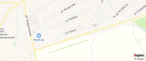 Улица Азина на карте села Аскино с номерами домов