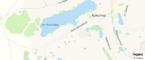 Крестьянская улица на карте села Куяштыра с номерами домов