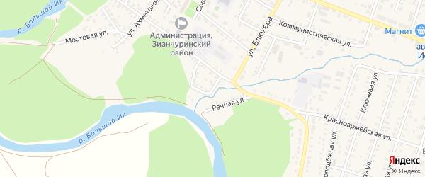 Набережная улица на карте села Исянгулово с номерами домов
