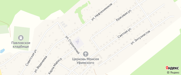 Улица Березовая Роща на карте села Павловки с номерами домов