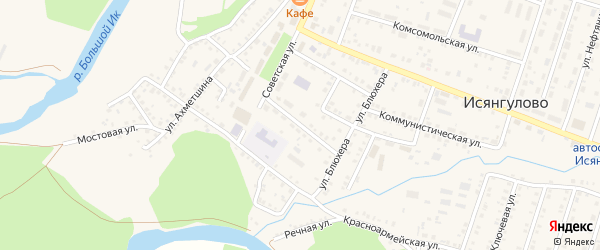 Улица К.Маркса на карте села Исянгулово с номерами домов