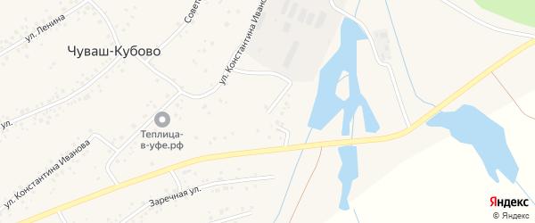 Цветочная улица на карте села Чуваш-Кубово с номерами домов